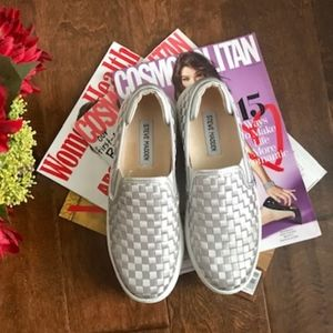 Steve madden Monte Silver loafers new